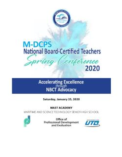 National Board Certified Teachers - Spring Conference
